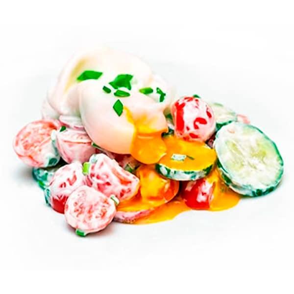 Салат Яйцо Пашот